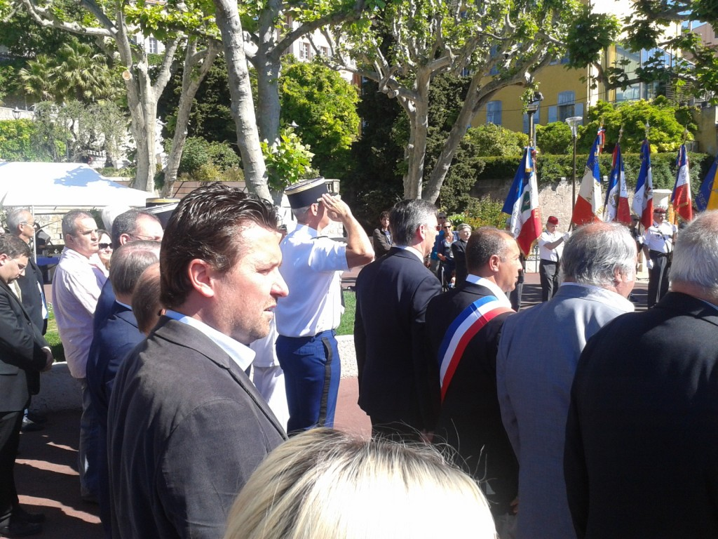 Cours Honoré Cresp - 1° Journée Nationale de Commémoration de la Résistance - 27/05/14 - Franck BARBEY, Conseiller Municipal; Président du RPF 06