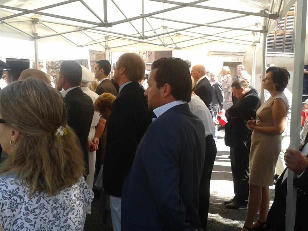 Franck BARBEY, Président du RPF06, Responsable RPF de la 9° Circonscription des Alpes Maritimes et Conseiller Municipal de Grasse était présent à la cérémonie de la Place du Petit Puy pour commémorer le 14 Juillet