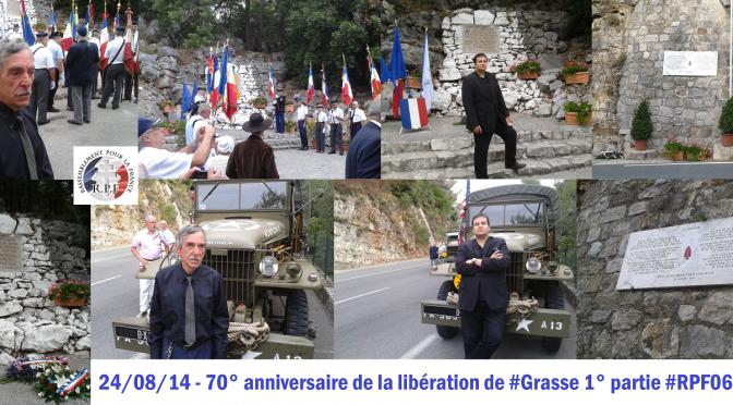 Commémorations Grasse – Bar sur Loup – Opio – Vence – Tourrettes sur Loup – 23, 24 et 27/08/14