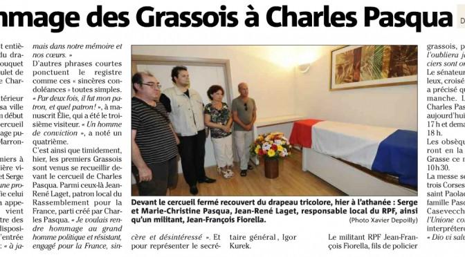 Le RPF / RPF 06 et l'hommage à Charles Pasqua (04, 05, 07 et 08/07/15)