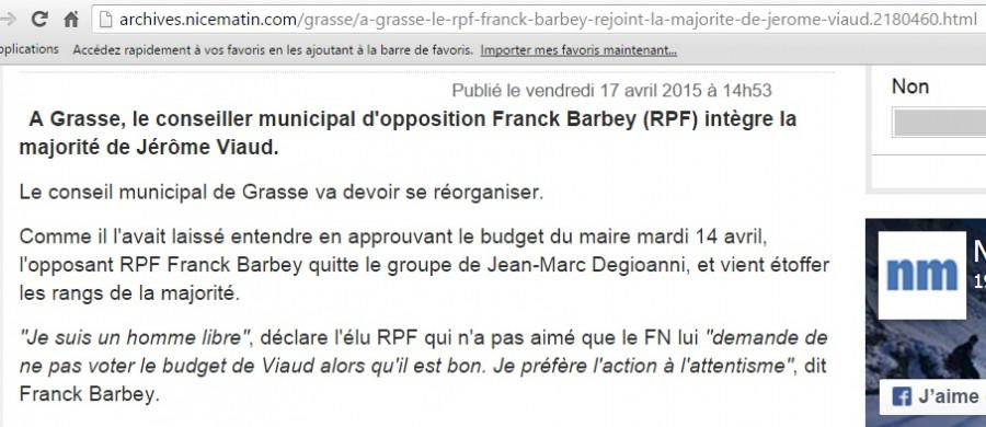Article Nice Matin numérique Franck Barbey 17 Avril 2015