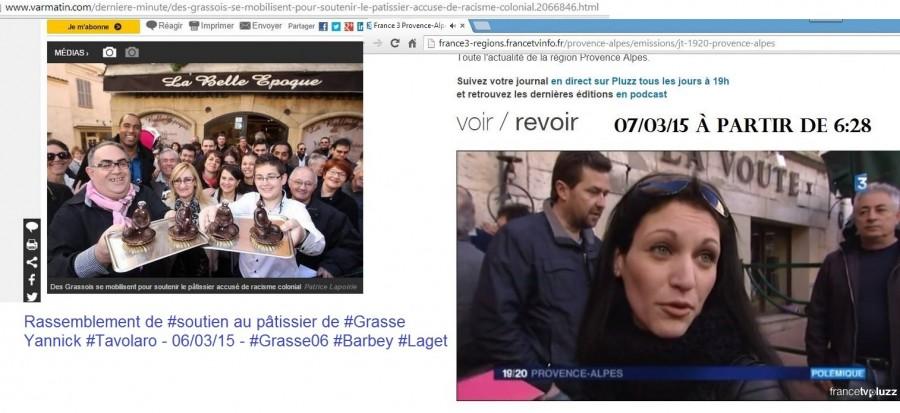 Article Nice Matin numérique et France 3 Tavolaro 6 et 7 Mars 2015