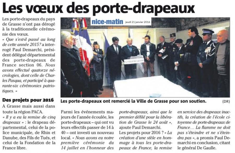Article Nice Matin voeux Porte Drapeaux