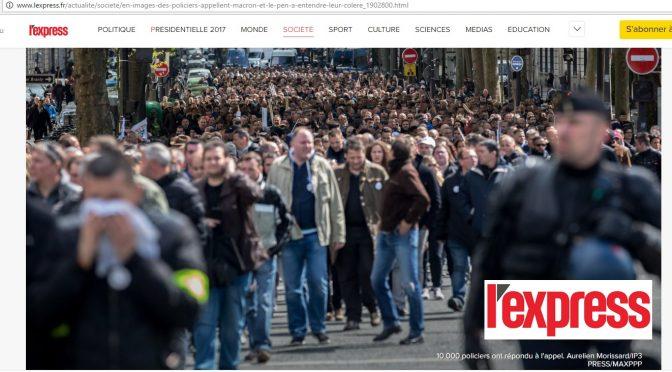 Manif Police et hommage à Xavier Jugelé : le RPF 06 représentait le RPF à Paris
