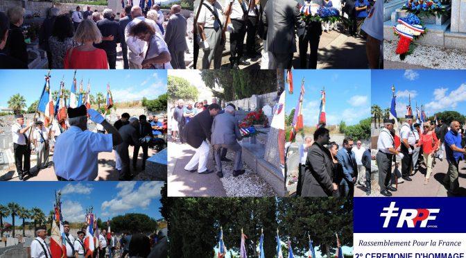 2° Cérémonie d'hommage à Charles Pasqua – Grasse 29/06/17